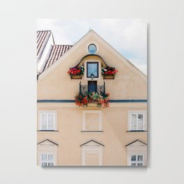 Prague in Peach Metal Print