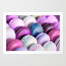 Lavender Purple Macaroons Art Print