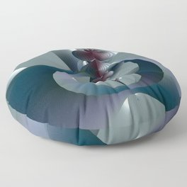 Life sprouting in the silence of an abstract fantasy Floor Pillow
