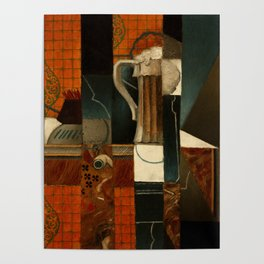 """Juan Gris """"Playing Cards and Glass of Beer"""" Poster"""