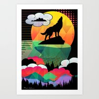 dog Art Prints featuring dog by mark ashkenazi