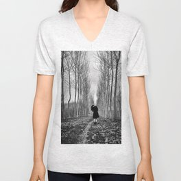 Little Human Artwork - Lost Unisex V-Neck