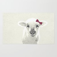 lamb Area & Throw Rugs featuring LAMB by SUNLIGHT STUDIOS  Monika Strigel