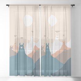 Hi-Llama-Ya Sheer Curtain
