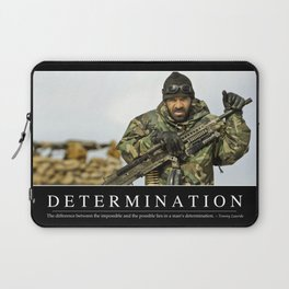 Determination: Inspirational Quote and Motivational Poster Laptop Sleeve
