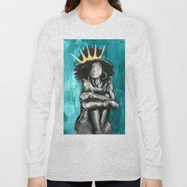 Naturally Queen IX TEAL Long Sleeve T-shirt
