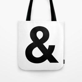 Ampersand Black and White Helvetica Typography Design Poster Home Decor Wall Art Scandinavian Decor Tote Bag