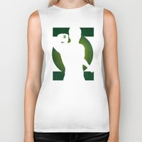 green lantern Biker Tanks featuring SuperHeroes Shadows : Green Lantern by Lily's Factory