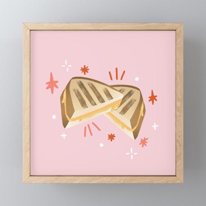 Grilled Cheese Framed Mini Art Print