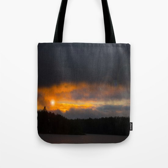 October Cloudy Sunset Tote Bag