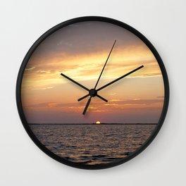 Watercolor Sunset, Janes Island 12, Maryland Wall Clock