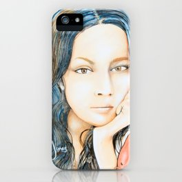 Norah Jones Mural iPhone Case