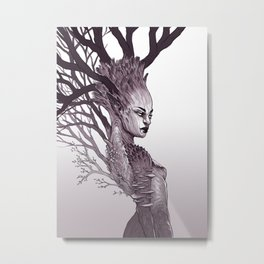 Tree Spirit - Dryad Queen Metal Print
