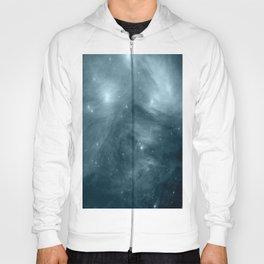 Galaxy : Pleiades Star Cluster NeBula Steel Blue Hoody