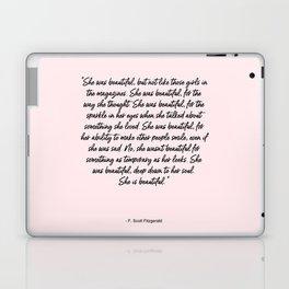 She is beautiful pink Laptop & iPad Skin