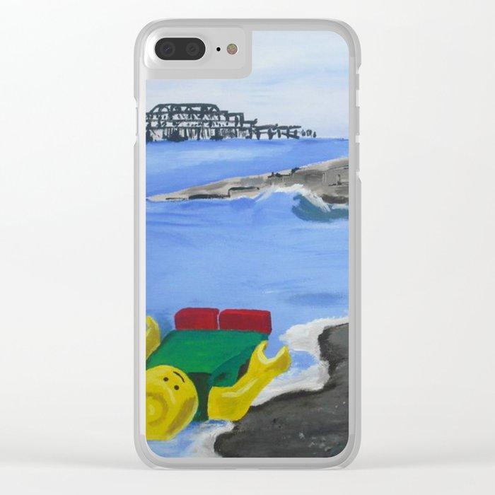 Lego Beach Acrylics Impressionist Fine Art Clear iPhone Case