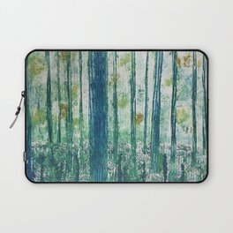 Collagraph print- enchanted forest Laptop Sleeve