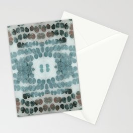 Sea Shell Disco Turquoise Stationery Cards