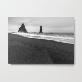 Black Sand Beach, Reynisfjara, Iceland Metal Print