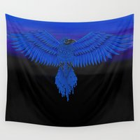 raven Wall Tapestries featuring Raven by Erin Rose