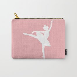 Pink and white Ballerina Carry-All Pouch