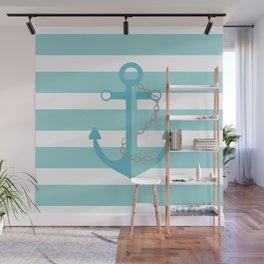 AFE Nautical Aqua Ship Anchor Wall Mural