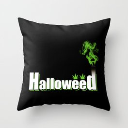 HalloWeed Throw Pillow
