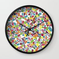pills Wall Clocks featuring Pills by Eleacuareling
