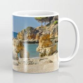 rock formation on Olhos d'Agua beach, Portugal Coffee Mug