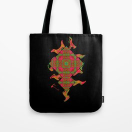 Cross those bricks when you get there. Tote Bag