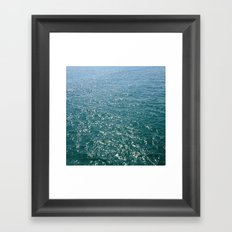 Deep Teal Sea Framed Art Print