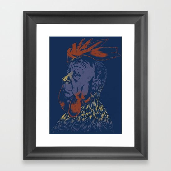 Hitch-Cock! Framed Art Print