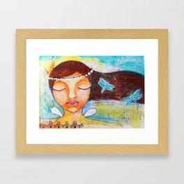 The Peace Fairy Framed Art Print