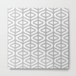 Mid Century Modern Split Triangle Pattern Gray 2 Metal Print