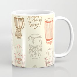 African drums and masks Coffee Mug
