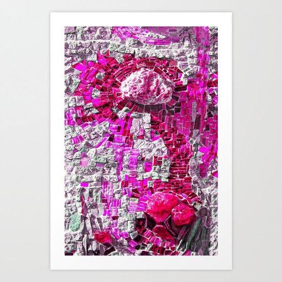 dot random mosaic  Art Print