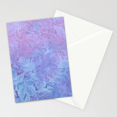 Frozen Leaves 3 Stationery Cards