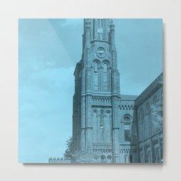 Blue Clock tower Metal Print