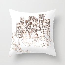 Town Walls  Loose Sketch Throw Pillow