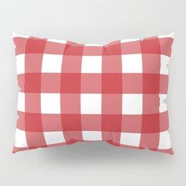 Buffalo Plaid in Red Pillow Sham