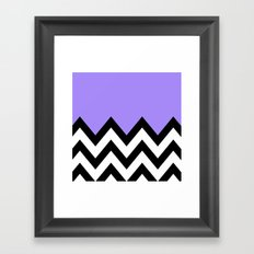PURPLE COLORBLOCK CHEVRON Framed Art Print