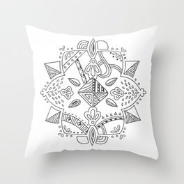 Mandala start Throw Pillow