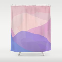 Desert Peaks Sunset Shower Curtain