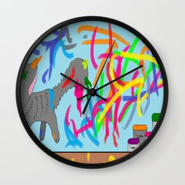 Artistic kitten  Wall Clock