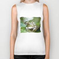 frog Biker Tanks featuring frog by Karl-Heinz Lüpke