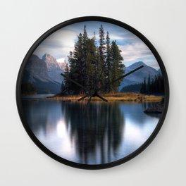 Spirit Island - Rocky Mountains Wall Clock