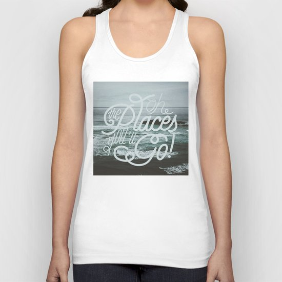 Oh the places you'll go! Unisex Tank Top