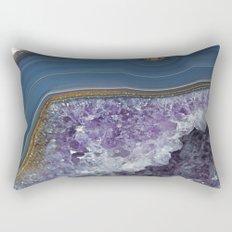 Amethyst Geode Agate Rectangular Pillow
