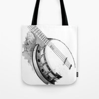 banjo Tote Bags featuring Banjo by Ashley Silvernell Quick