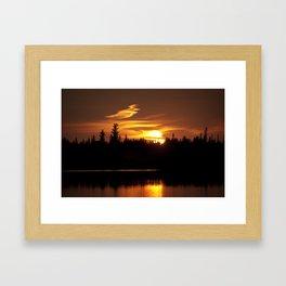 Northern Sunset 001 Framed Art Print
